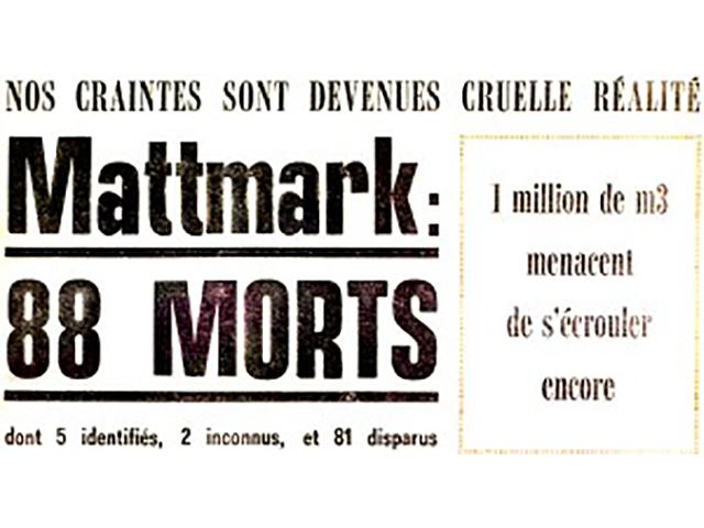 Mattmark giornale