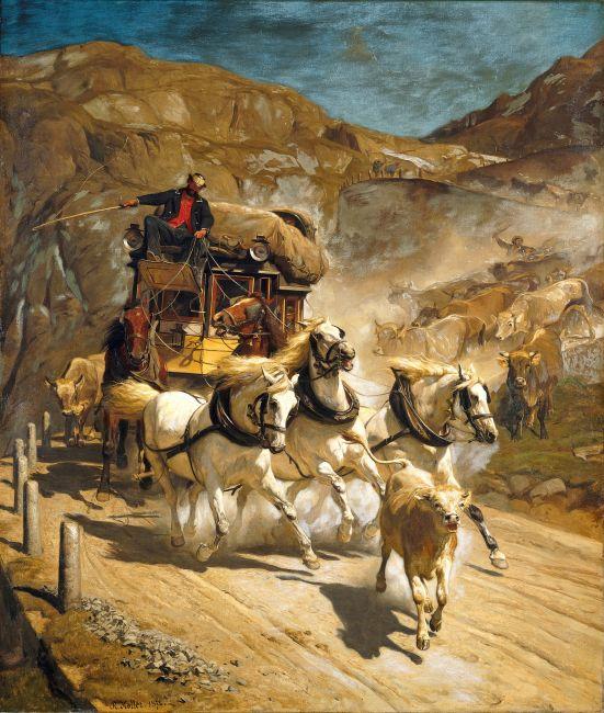 Rudolf_Koller_Die_Gotthardpost_1874